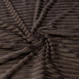Ткань на отрез велсофт Orrizonte 300 гр/м2 200 см 011-ОT цвет кофейный