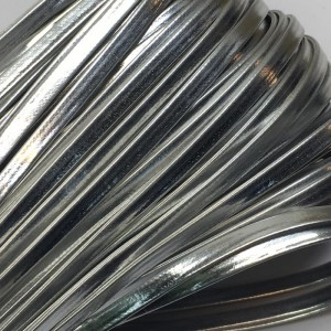 Шнур декоративный кожзам 4мм серебро 2151 уп 10 м