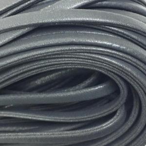 Шнур декоративный кожзам 5мм серый 2146 уп 10 м
