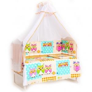 Набор в кроватку 7 предметов с оборками Соня