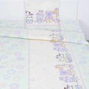 Детское постельное белье 5636/4 Паровозик звездочка поплин 1.5 сп