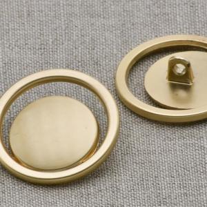 Пуговица металл ПМ41 золото матовое уп 12 шт