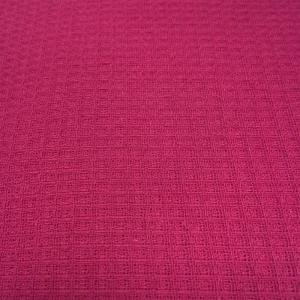 Вафельное полотно гладкокрашенное 150 см 165 гр/м2 цвет рубиновый