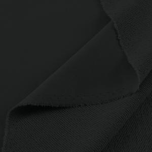 Ткань на отрез футер 3-х нитка диагональный 3772-1 цвет черный