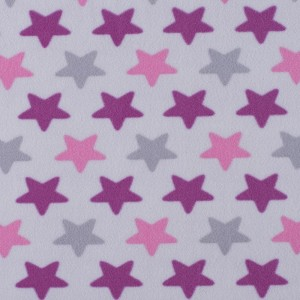 Ткань на отрез флис Звезды 40995/1 цвет сирень