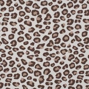 Ткань на отрез интерлок Леопардовая текстура 2664-20 цвет сливки