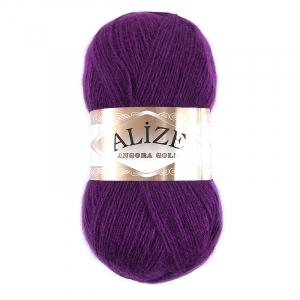 Пряжа для вязания Ализе AngoraGold (20%шерсть, 80%акрил) 100гр цвет 050 фуксия