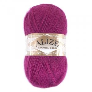 Пряжа для вязания Ализе AngoraGold (20%шерсть, 80%акрил) 100гр цвет 649 рубин