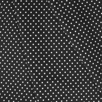 Ткань на отрез бязь плательная 150 см 1359/3 черный фон белый горох