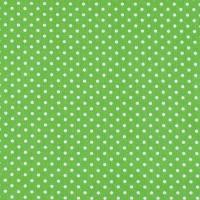 Ткань на отрез бязь плательная 150 см 1359/7 зеленый фон белый горох