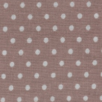 Ткань на отрез бязь плательная 150 см 1359/8 коричневый фон белый горох