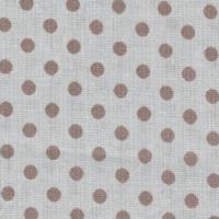 Ткань на отрез бязь плательная 150 см 1359/9 бежевый фон коричневый горох