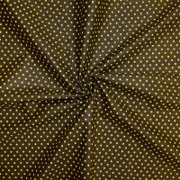Ткань на отрез бязь плательная 150 см 1359/10 черный фон желтый горох