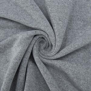 Ткань на отрез футер петля 19-07 цвет т.серый