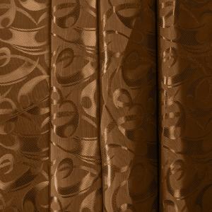 Портьерная ткань 150 см 10-1 цвет коричневый