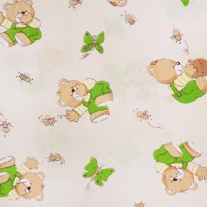 Ткань на отрез бязь ГОСТ детская 150 см 1332/6 За медом цвет бежевый