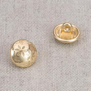 Пуговица металл ПМ67 11мм золото Цветочный рисунок уп 12 шт