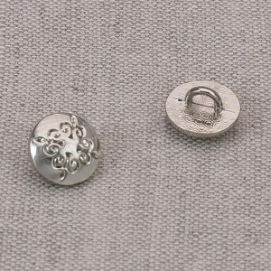 Пуговица металл ПМ69 10мм никель узор уп 12 шт