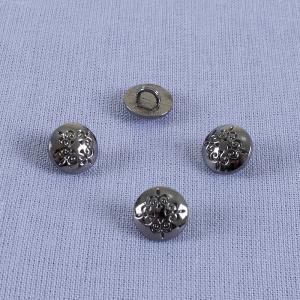 Пуговица металл ПМ69 10мм черный никель узор уп 12 шт