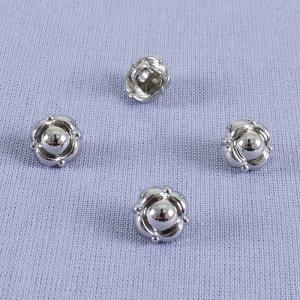 Пуговица металл ПМ70 10мм никель цветок уп 12 шт