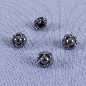 Пуговица металл ПМ70 10мм черный никель цветок уп 12 шт