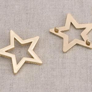 Пуговица металл ПМ83 33мм золото  звезда уп 12 шт