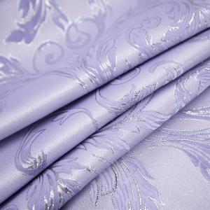 Портьерная ткань с люрексом 150 см на отрез Х7187 цвет сиреневый вензель