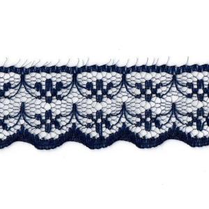 Кружево капрон 20 мм/10 м цвет 133-1 т-синий