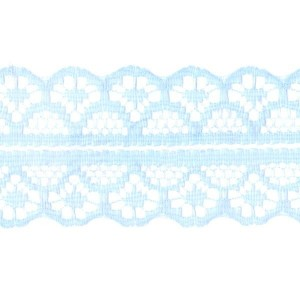 Кружево капрон 25 мм/10 м цвет 126-2 голубой