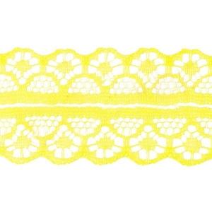 Кружево капрон 25 мм/10 м цвет 126-2 желтый