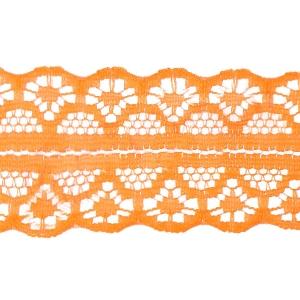 Кружево капрон 25 мм/10 м цвет 126-2 оранжевый