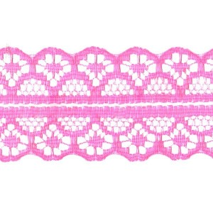 Кружево капрон 25 мм/10 м цвет 126-2 т-розовый