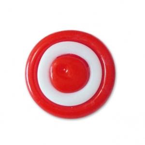 Пуговица детская сборная на ножке Колесо 14 мм цвет красный упаковка 24 шт
