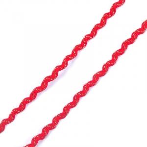 Тесьма плетеная вьюнчик С-3015 (3584) г17 уп 20 м ширина 7 мм (5 мм) рис 8528 цвет 007