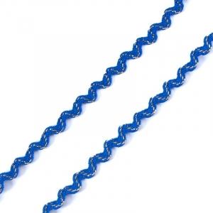 Тесьма плетеная вьюнчик С-3015 (3584) г17 уп 20 м ширина 7 мм (5 мм) рис 8528 цвет синий-золото