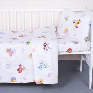 Постельное белье в детскую кроватку 5031/1 Бусинка компаньон цвет розовый с простыней на резинке