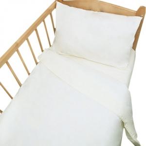 Постельное белье в детскую кроватку с простыней на резинке Шампань сатин
