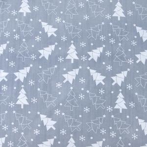 Ткань на отрез поплин 150 см 427/17 цвет серый