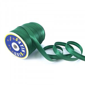 Косая бейка ширина 15 мм (132 м)  цвет F243 ярко-зеленый