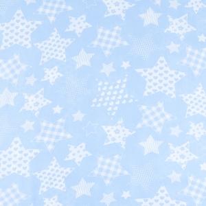Ткань на отрез бязь плательная 150 см 1683/3 цвет голубой