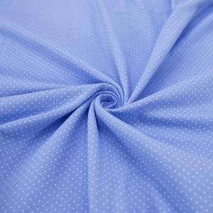 Ткань на отрез кулирка 1001-V7 Пшено на голубом