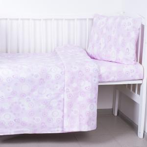 Постельное белье в детскую кроватку 250/4 цвет розовый