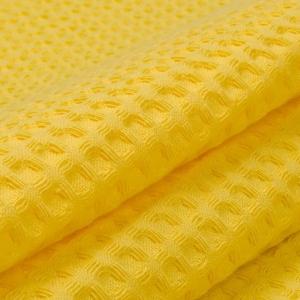 Ткань на отрез вафельное полотно гладкокрашенное 150 см 240 гр/м2 7х7 мм цвет 257 желтый