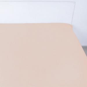 Простынь на резинке сатин цвет миндаль 140/200/20 см