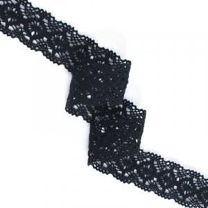 Кружево лен 40871 Чёрный 3,5 см 1метр