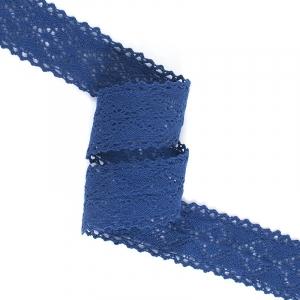 Кружево лен 22136 т.синий 4,5см 1метр