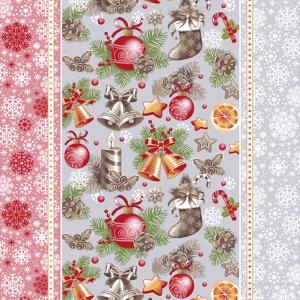Ткань на отрез вафельное полотно 50 см 209251 Новогодний сувенир 1
