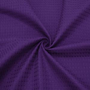 Ткань на отрез вафельное полотно гладкокрашенное 150 см 240 гр/м2 7х7 мм цвет 053 цвет баклажан