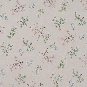 Ткань на отрез лен TBY-DJ-12 Луговые цветы