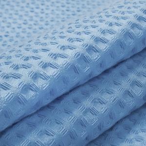 Вафельное полотно гладкокрашенное 150 см 240 гр/м2 7х7 мм премиум цвет 041 бледно-голубой